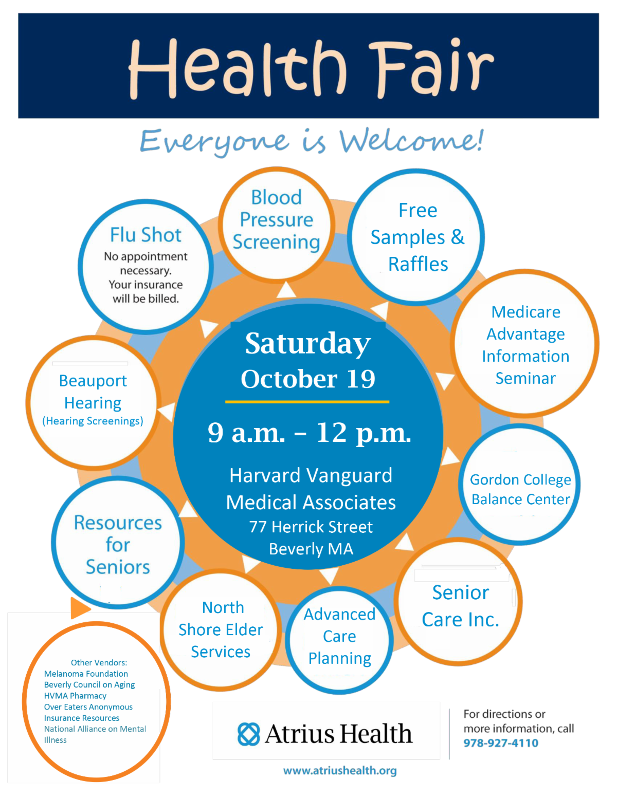 Harvard Vanguard Health Fair @ Harvard Vanguard Medical Associates | Peabody | Massachusetts | United States