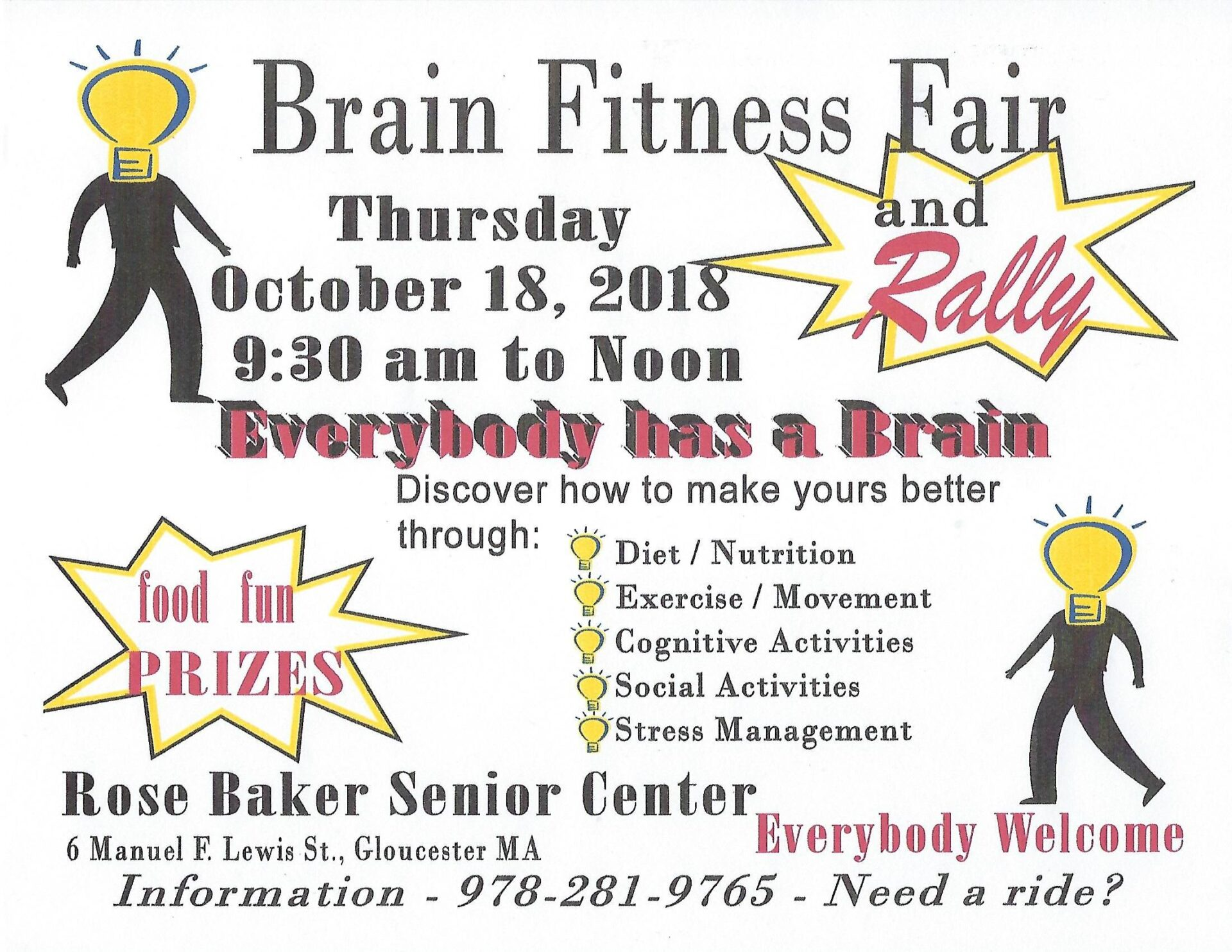 Brain Fitness Fair & Rally:  Hear the Fun! @ Rose Baker Senior Center | Gloucester | Massachusetts | United States